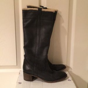 BIVIEL  knee high leather knee high boots.